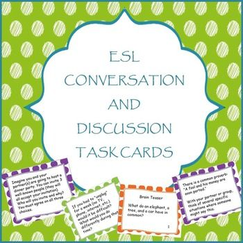 teaching english as a second language conversation ideas for dating