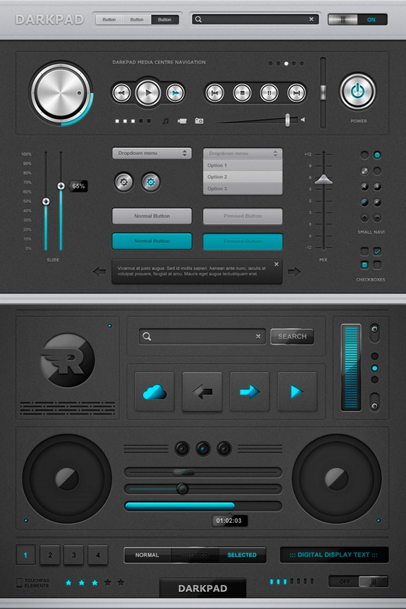 darkpadGui Design, Screens Design, Cleanses, Gui Psd, User Interface, Interface App, Web, Music Sampler, Darkpad Touchpad