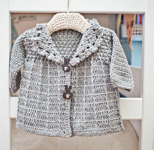 Ravelry: Baby (Toddler) Jacket, crochet pattern by Mon Petit Violon