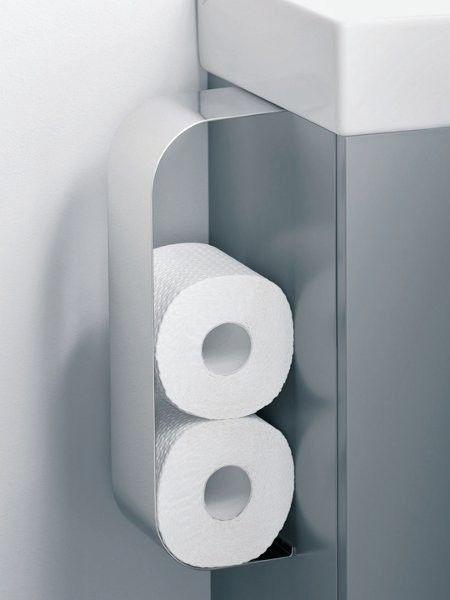 """Der Reserverollenhalter """"Tonic Guest"""" lässt sich im Traumbad am Waschtisch oder an Schränken befestigen. (Halter, ca. 100 Euro, Ideal Standard)"""