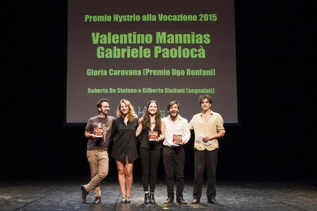 Riflettori su...di Silvia Arosio: Premio Hystrio 2015: i vincitori