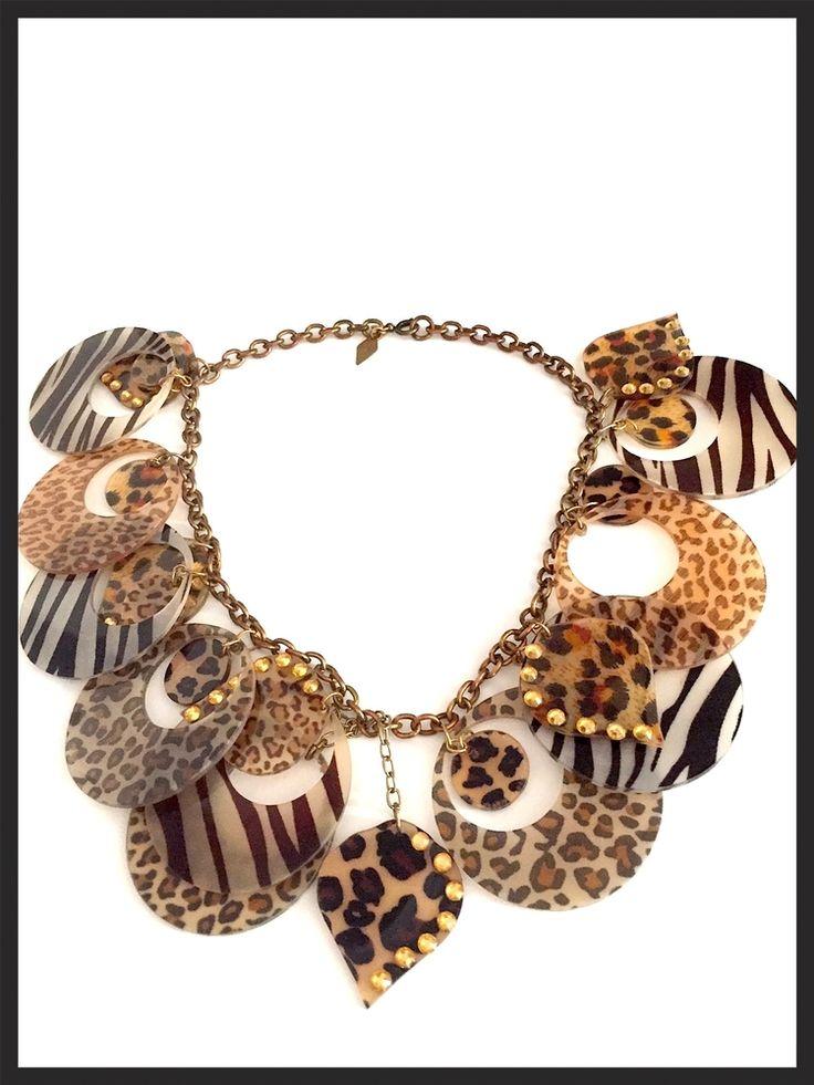 Vintage Animal Print Necklace