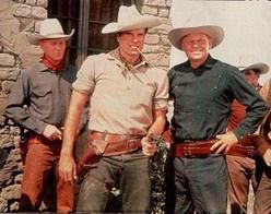 """TALES OF TEXAS JOHN SLAUGHTER - starring Tom Tryon as """"Texas John Slaughter"""" and Harry Carey Jr. - TV episodes were originally broadcast on ABC-TV's """"Disneyland"""""""