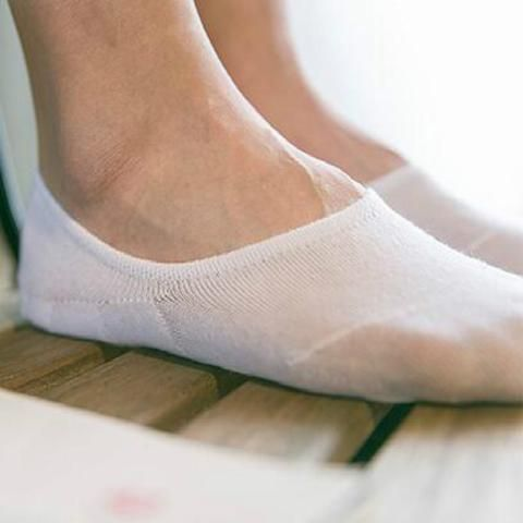 Pair Cotton Anti-slip Invisible Socks Low Cut Shallow Mouth No-show Boat Socks