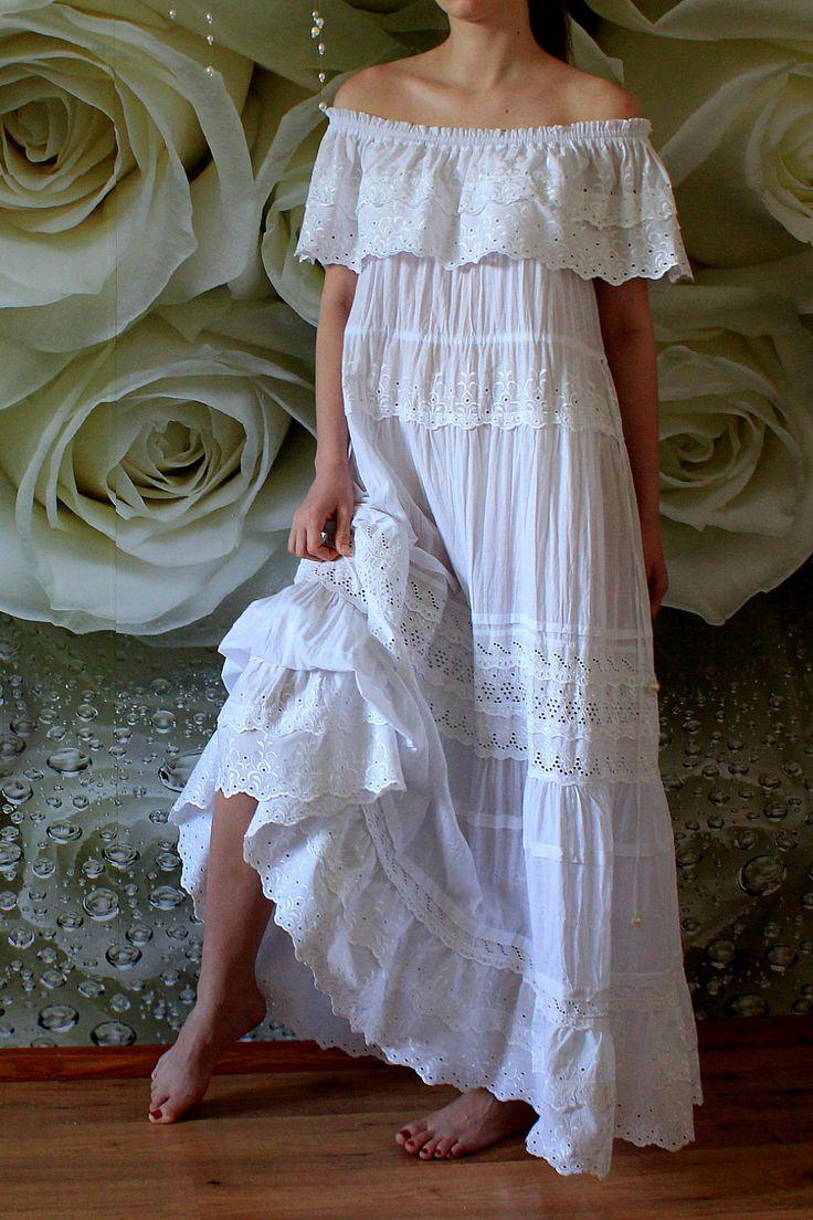 Beach Wedding Dress Perfect For Seaside 2019 Cotton Diy Bohemian Dress Bohemian Beach Wedding Dress Eco Wedding Dress [ 1104 x 736 Pixel ]