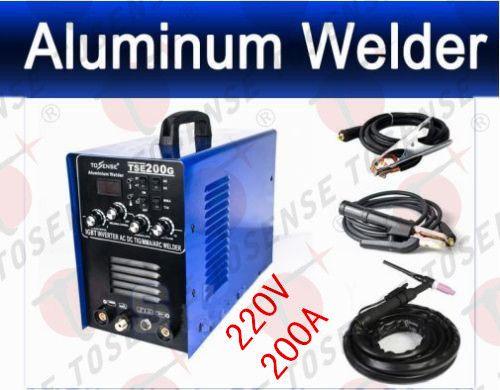 2016 Free shipping High Quality IGBT INVERTER AC/DC TIG/MMA Aluminum Welder TSE200G, new generation of WSME-200 TIG WELDER