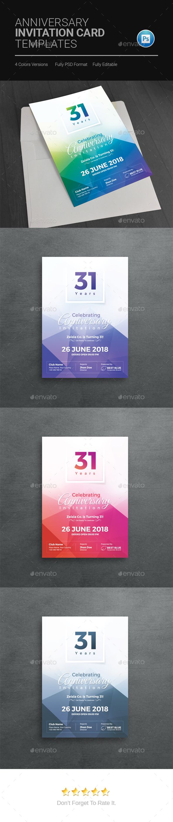 144 best invitation card templates images on pinterest card anniversary invitation template anniversary greeting cards design download stopboris Gallery