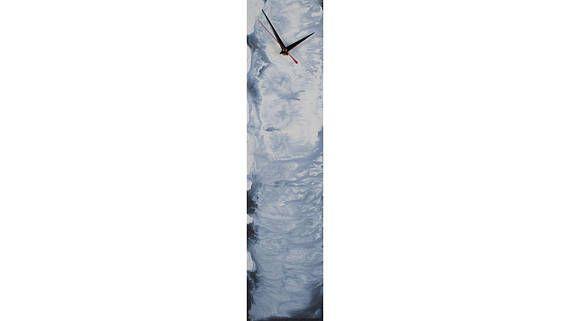 Blue Wall Clock Gifts for men Boyfriend Glass art Blue