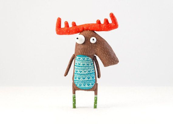 Charming moose by MarLitoys on Etsy
