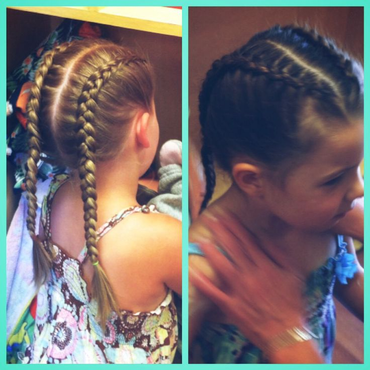 Hair - Reverse french braids, fast and easy!