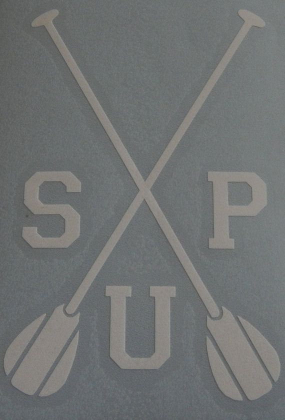 Paddleboard Decal SUP Paddle Crest by MadeyGear on Etsy, $3.50