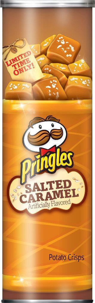 These salted caramel Pringles. | 19 Weirdly Awesome Flavors That Debuted In 2015
