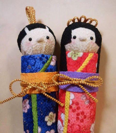 桃の節句に 立雛の可愛いお雛様 http://komono.jp.net/