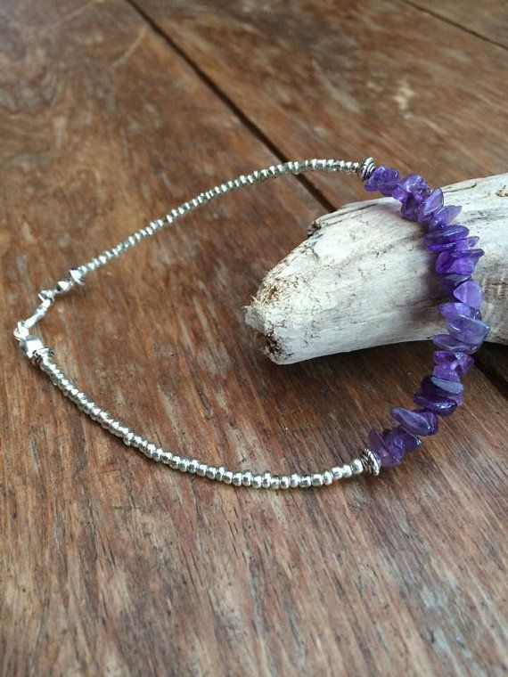 Purple Amethyst Cluster Bracelet/Anklet in 5 by InTheMomentUK