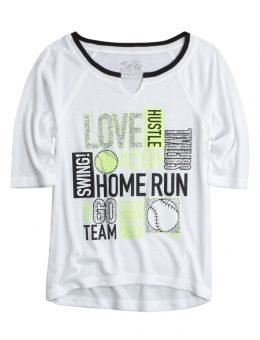 Sports Baseball Tee | Girls Active Outfits New Arrivals | Shop Justice