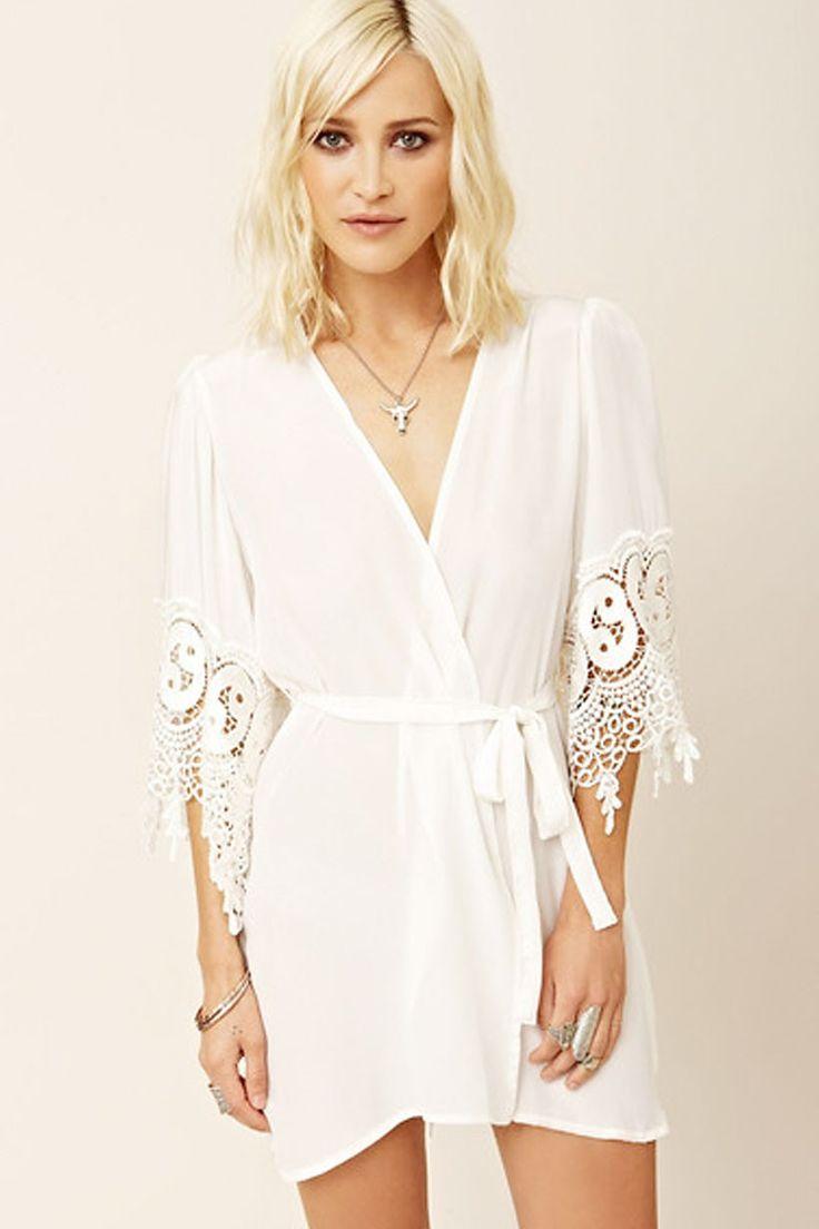 Robe - White/Lace