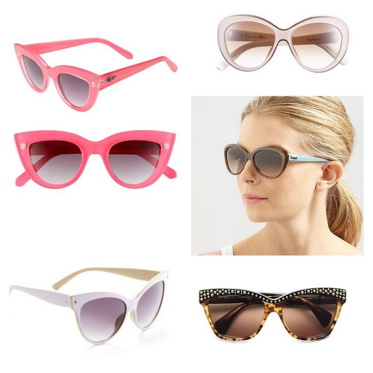 Cats eye sunglasses are back!: 2014 Sunglasses, Hearts Shaped Sunglasses, Cat Eyes, Fabulous Sunglasses, Cat Eye Frames, Cat Eye Glasses, Cat Eye Sunglasses
