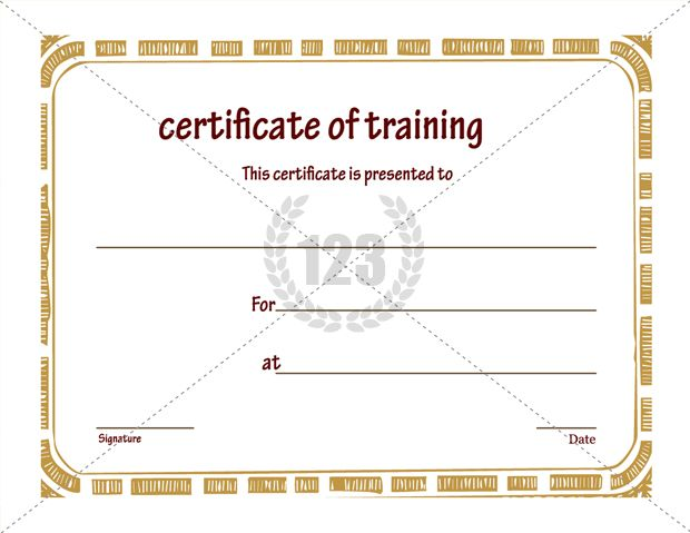 Free Certificate of Training Template Download - free template certificate