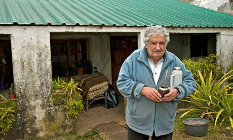 """I have the aggressive courage to speak out … maybe that's why I get people's attention."" Uruguay's president José Mujica at his farm near M..."