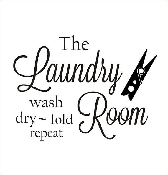 Laundry Room Vinyl Wall Decal with by CustomVinylbyBridge on Etsy, $26.00