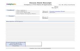 Screenshot for c1002 - House Rent Receipt Template
