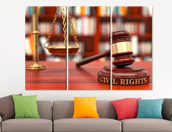 Civil Rights Canvas Print Gift For Lawyer Office Decor Judge Wall Art Law Canvas Set Human Rights Poster 3 4 5 Pa Lawyer Office Decor Office Decor Lawyer Gifts