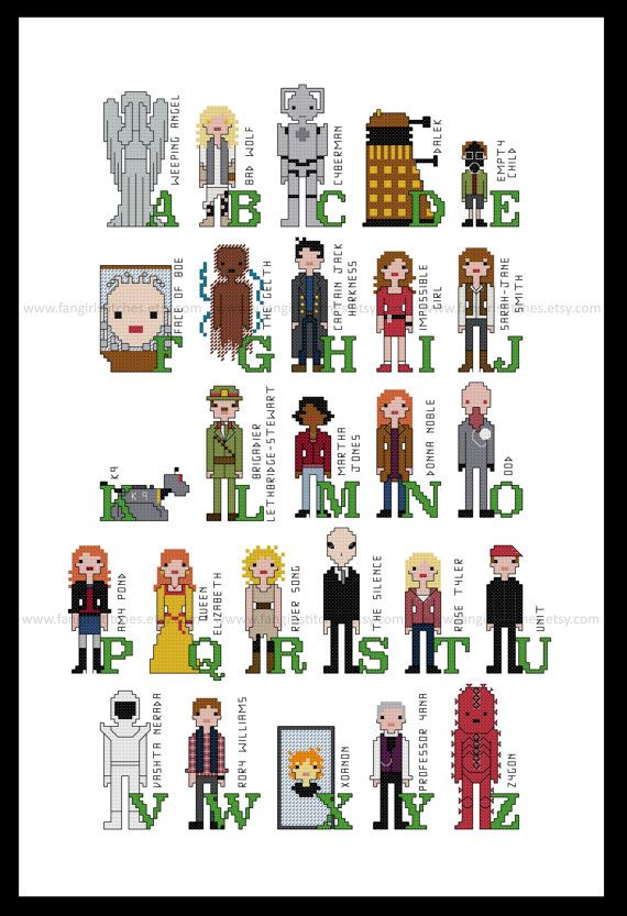 Hey, I found this really awesome Etsy listing at https://www.etsy.com/listing/211332838/doctor-who-alphabet-of-characters-cross