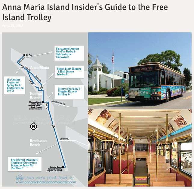 Insiders Guide to Free Trolley - Anna Maria Island, Florida http://www.annamariaislandhomerental.com