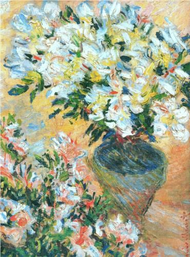 White Azaleas in a Pot | 1885 | Claude Monet