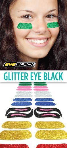 NEW Glitter Eye Black!  10+ colors available https://www.eyeblack.com/glitter-eyeblack.html?p=1