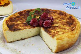 Tarta de queso en Olla GM (también tradicional y thermomix) de Ana Sevilla