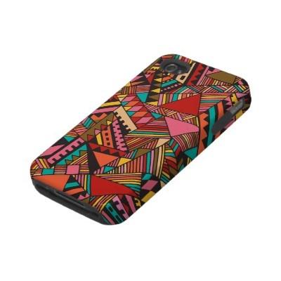 #colorful #aztec #iphone #case #mate #zazzle $40.90