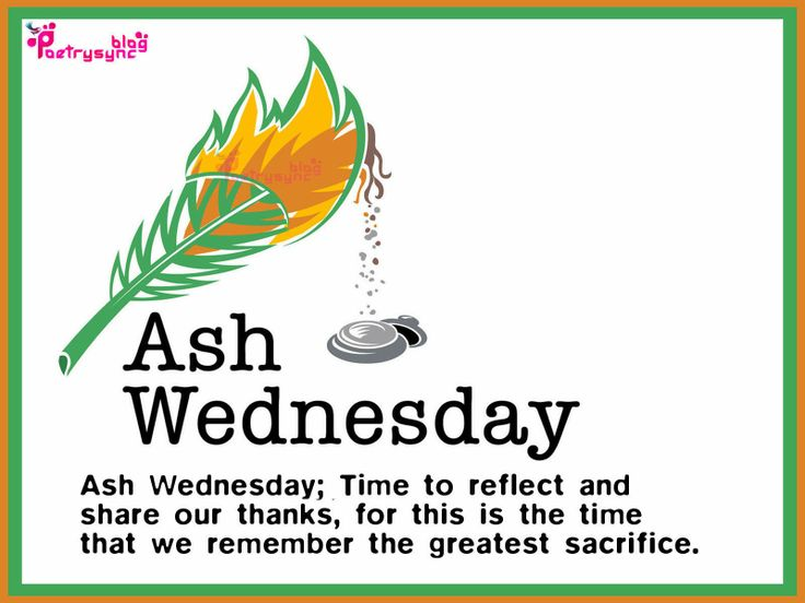 Ash Wednesday Lent Image Card and Wishes Quote Saying