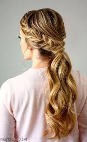 Resultado de imagen para peinados colas pelo largo