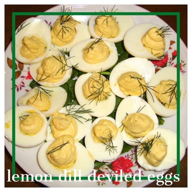 Lemon dill deviled eggs! Perfect healthy side dish for your BBQ!