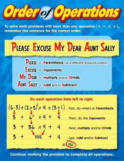 Order of Operations Worksheets - Math Worksheets 4 Kids