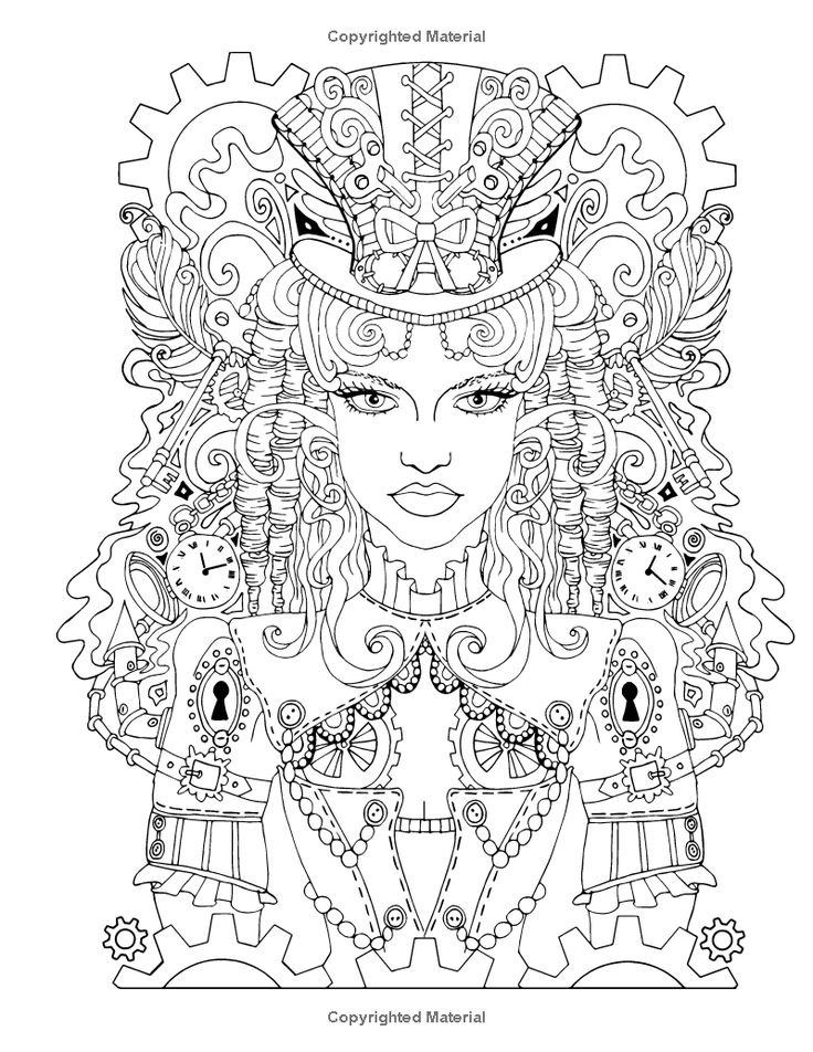 360 best Steampunk Coloring Pages for Adults images on