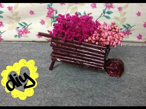 DIY: CARRINHO DE FLORES (decoração fácil) - YouTube