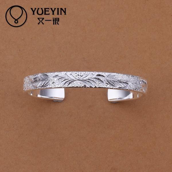Оптовые! бесплатная Доставка Оптовые серебряные браслеты, серебряные ювелирные изделия 8 мм Плоским браслеты B197