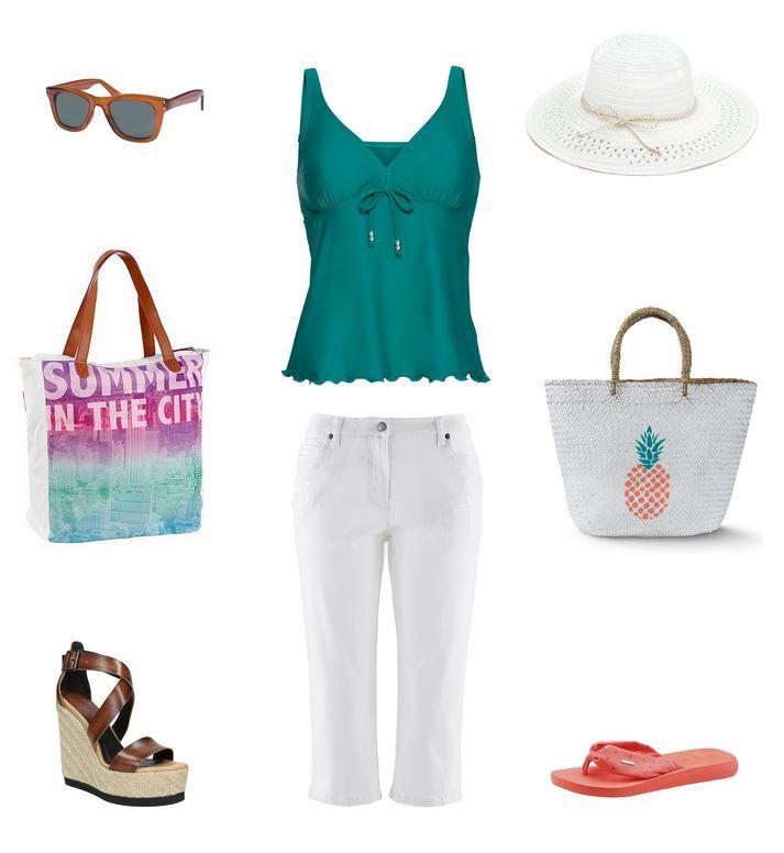 Športové letné oblečenie pre moletky - biele capri nohavice pre moletky