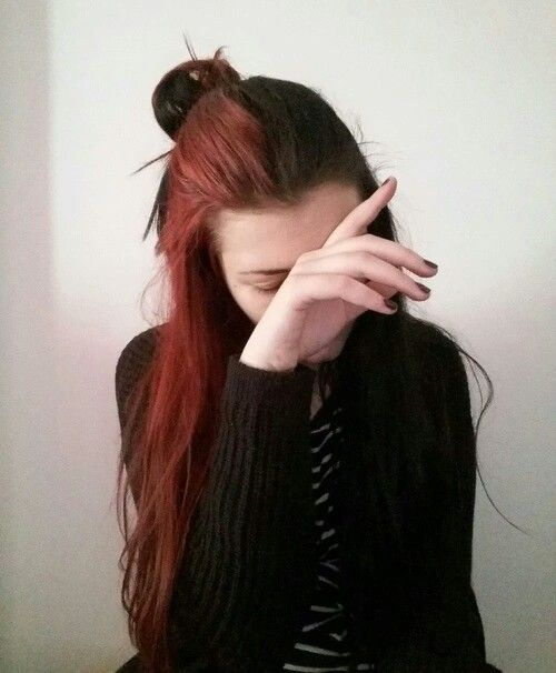 Split Dyed Hair-- wouldn't do this but it's so unique and different that i feel obligated to add it to my board