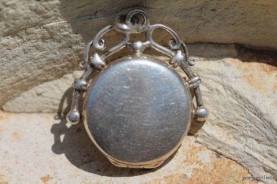 Vintage 925 Sterling Silver Fancy Watch Fob by Yourgreatfinds, $69.99