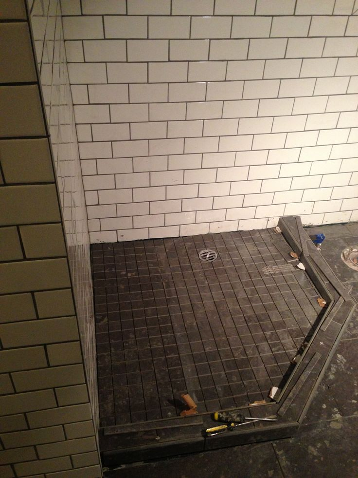 how to build a tile shower base