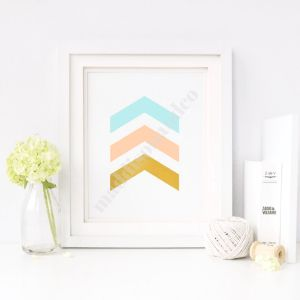 $2.99   Pastel Chevron Downloadable Wall Art Printable quote, printable, Maddison + Co shop, online shop, wall art prints, downloadable wall art, room decor, teen room decor, teen wall art, room decorating, chevron, gold foil, pastel print