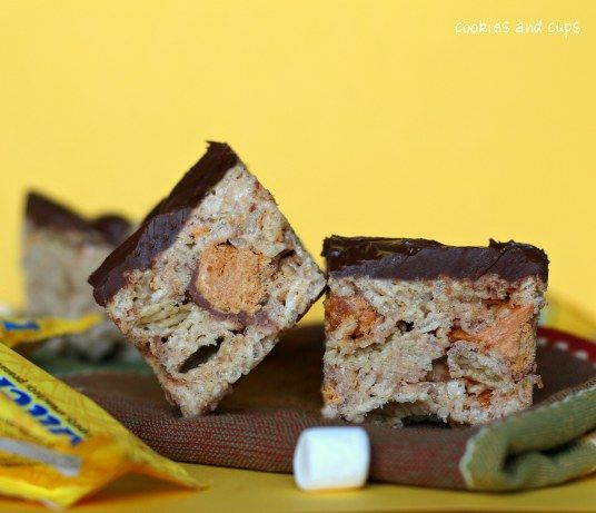 Butterfinger Krispietreats- this site has great cake, cookie, etc ...