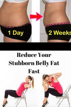 Try some warm-up chair exercises. These exercises you can do while sitting down are perfect for anyone working from a desk or spending most of the day in a chair. Here are 5 of the best chair exercises to reduce your stubborn belly fat fast-