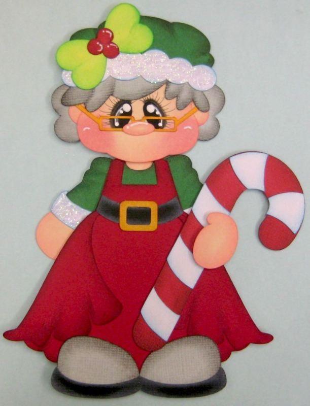 Navidad Santa Amor Paper Piecing prefabricados de Scrapbook página Rhonda rm613art