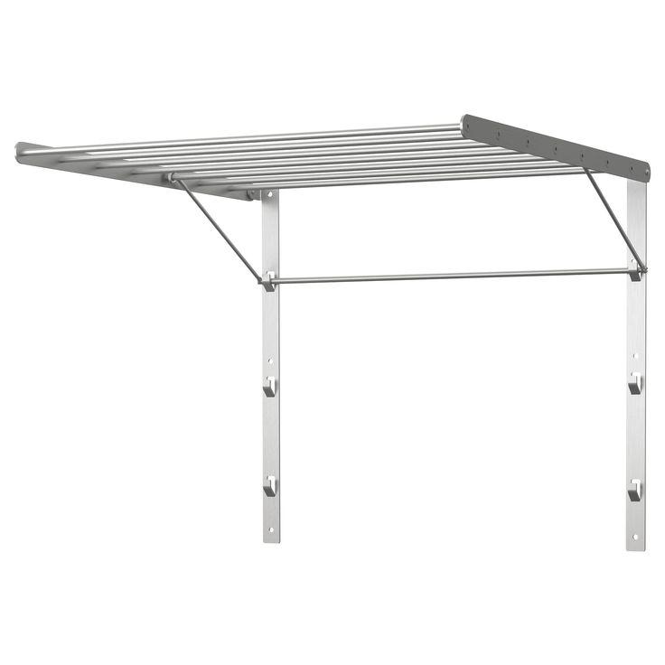 grundtal drying rack wall 22x21 ikea mount in. Black Bedroom Furniture Sets. Home Design Ideas