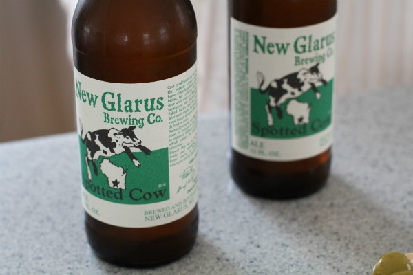 New Glarus Spotted Cow - one of the best beers you'll ever try, my fav.