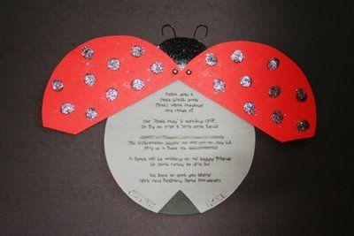 Interactive invite. : Birthday Parties, Ladybugs Invitations, Cute Ideas, Invitation Ideas, Invitations Ideas, Parties Ideas, Ladybugs Parties, Ladybugs Birthday, Birthday Ideas
